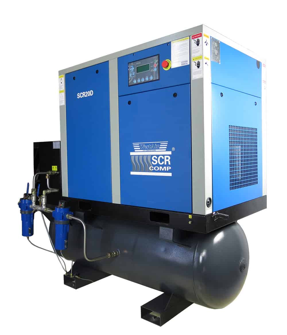SCR 15kW 8.0-Bar VARIABLE SPEED SCREW COMPRESSOR - ALL-IN-ONE